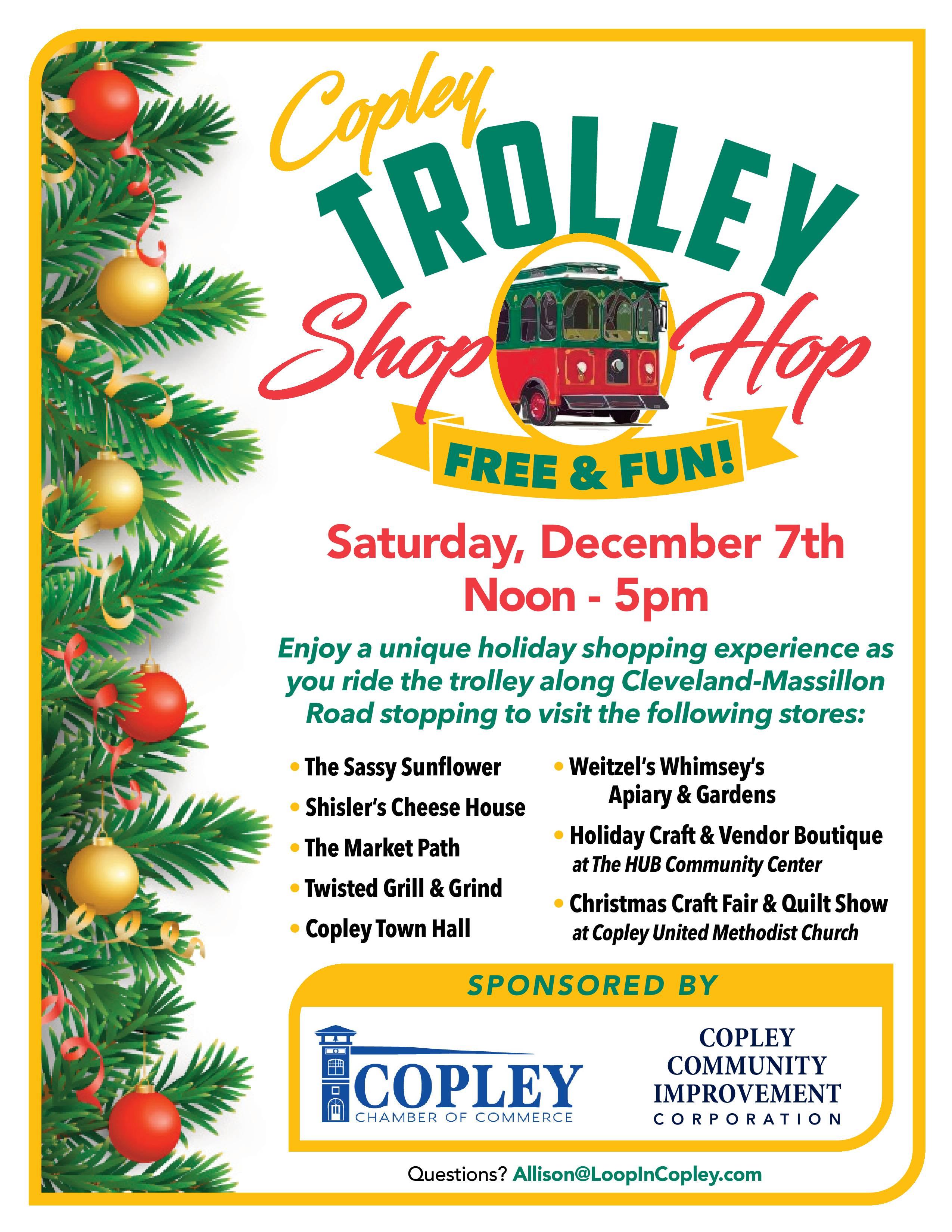 Copley Trolley Hop Shop 2019