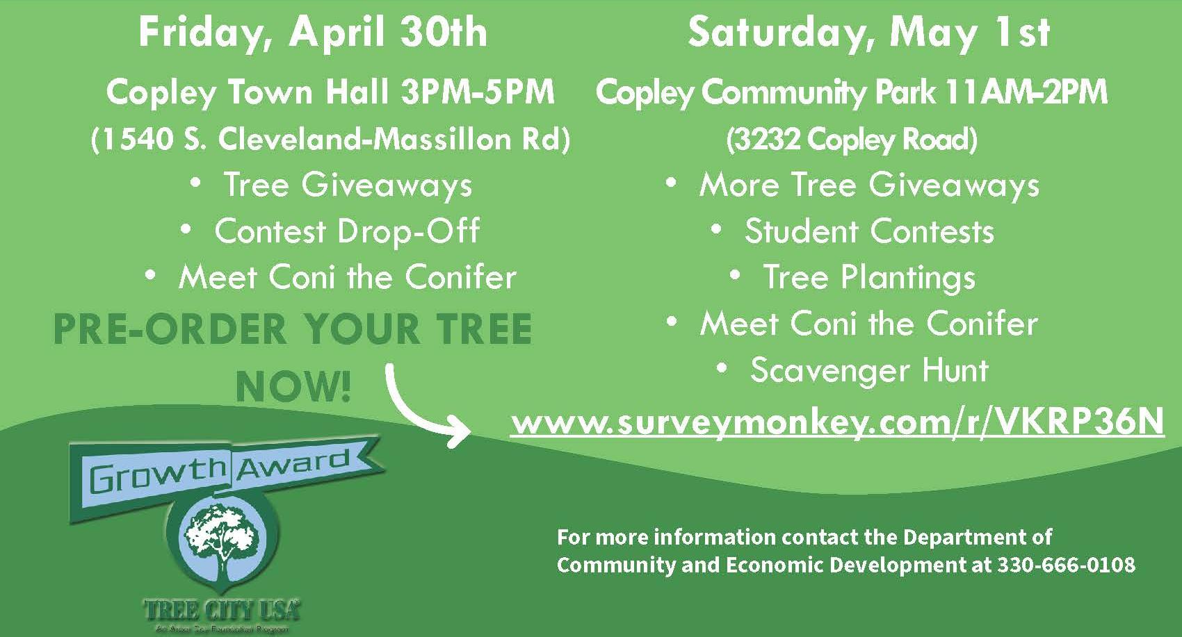 Copley Arbor Day 2021 activities