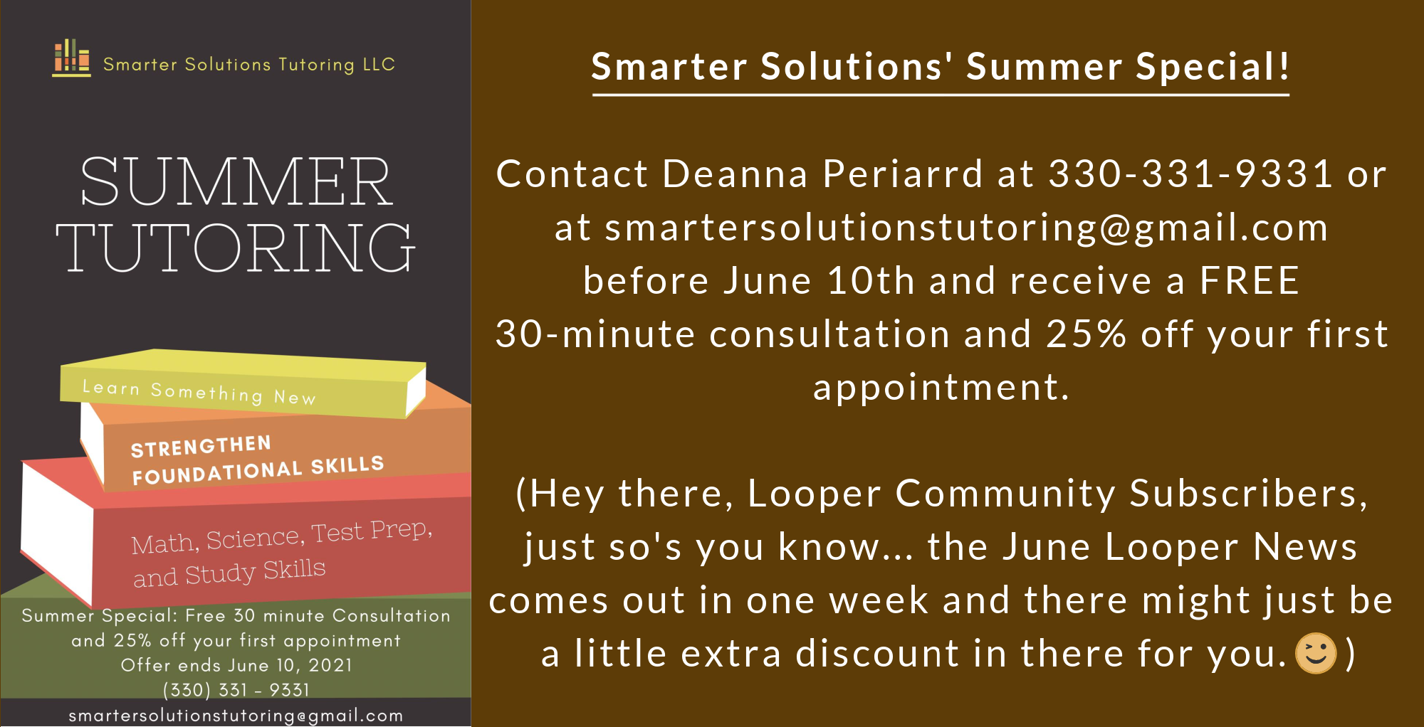 Smarter Solutions Tutoring Summer Special