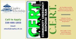Copley Townhsip CERT