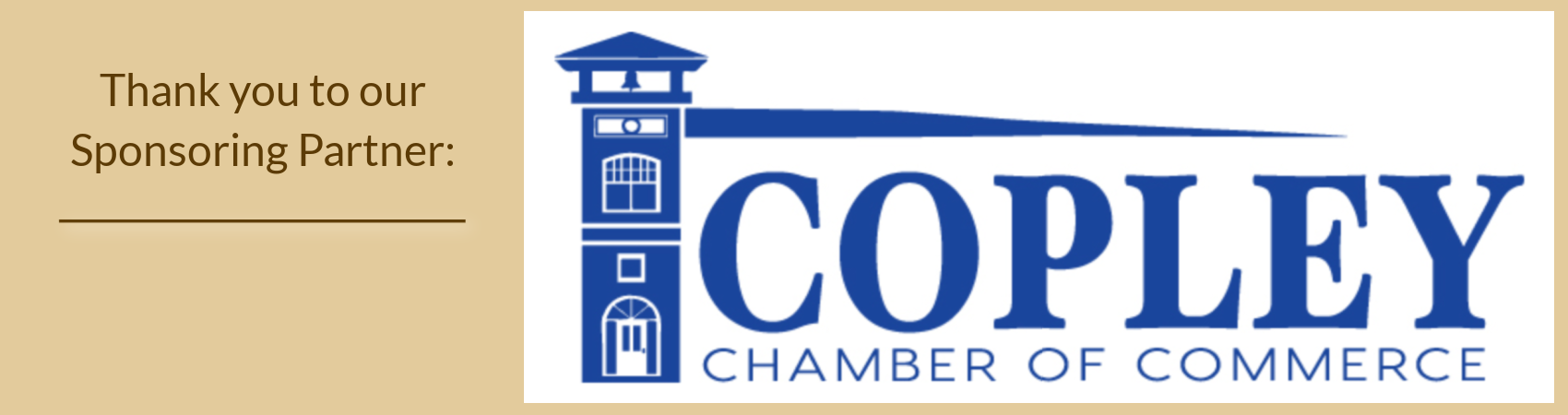 Copley Chamber Sponsoring Partner